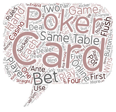 Poker Tips Poker Rules Online Poker text background wordcloud concept