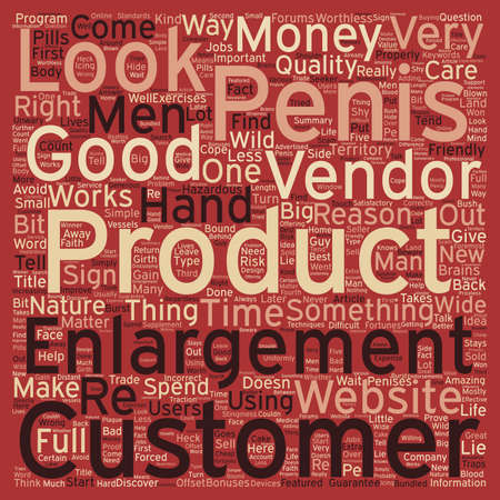 look out: Penis Enlargement what to look out for text background wordcloud concept Illustration
