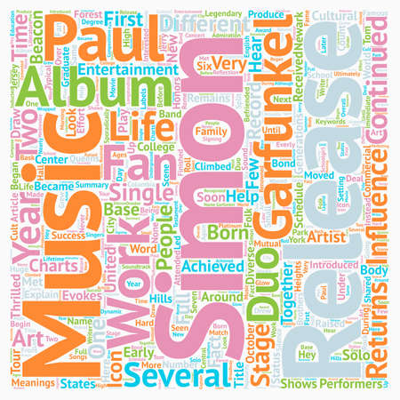 paul: Paul Simon A Musical And Cultural Icon Returns To The Stage text background wordcloud concept Illustration
