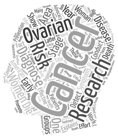 researches: Ovarian Cancer Research text background wordcloud concept