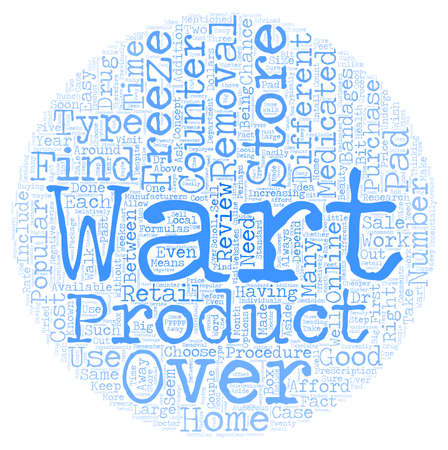 wart: Over the Counter Wart Removal Products text background wordcloud concept