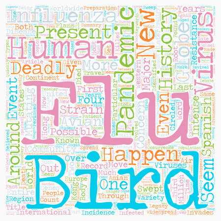 legacy: Pandemic Flu History A Deadly Legacy text background wordcloud concept