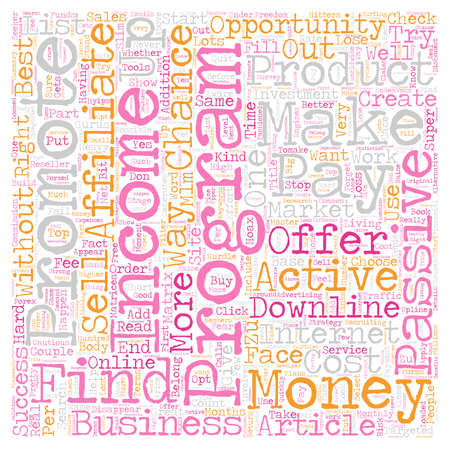 opportunity concept: Online Income Strategy What kind of Opportunity should you choose text background wordcloud concept