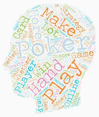 accelerate: Online Poker Strategy That Works For Any Player text background wordcloud concept Illustration