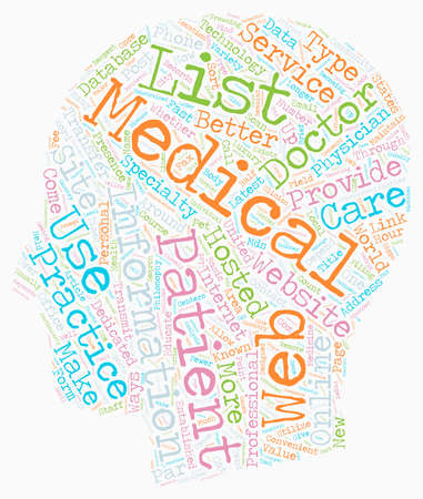 clouds making: Online MDs Why To Get Your Practice On The Web text background wordcloud concept