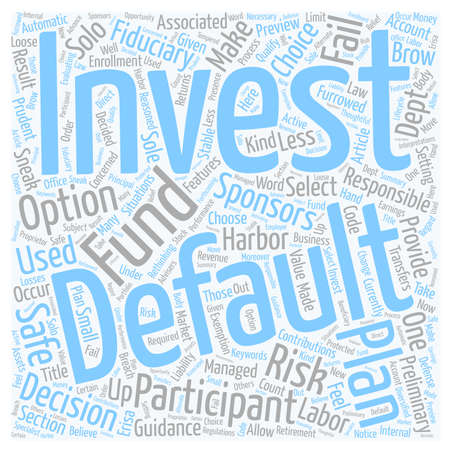 brow: One Less Furrowed Brow For 401k Plan Sponsors text background wordcloud concept