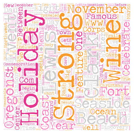 oregon coast: On Oregon s Coast Lewis Clark and the Holidays text background wordcloud concept