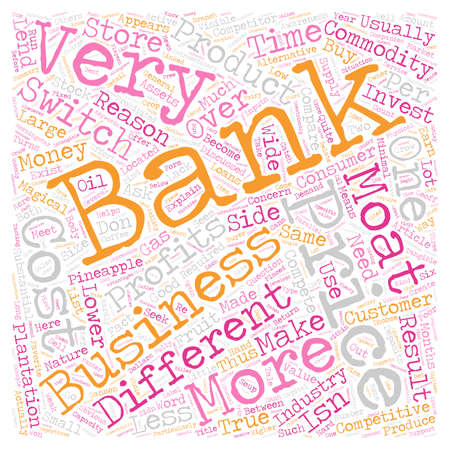 On Banks text background wordcloud concept Illustration
