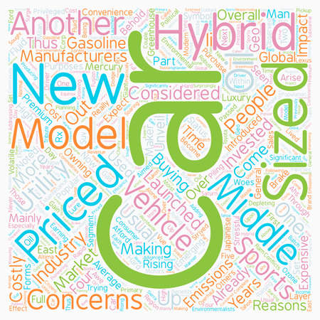 new hybrid cars text background wordcloud concept