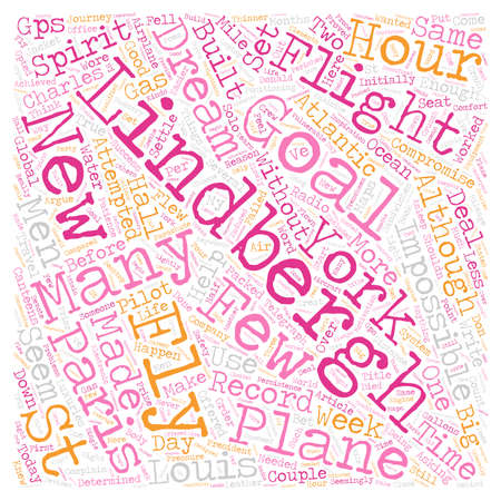 No GPS for Lindbergh text background wordcloud concept