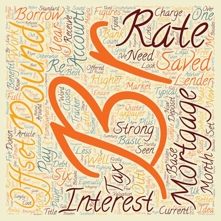 homeowners: Offset Mortgages A dream for well off homeowners text background wordcloud concept