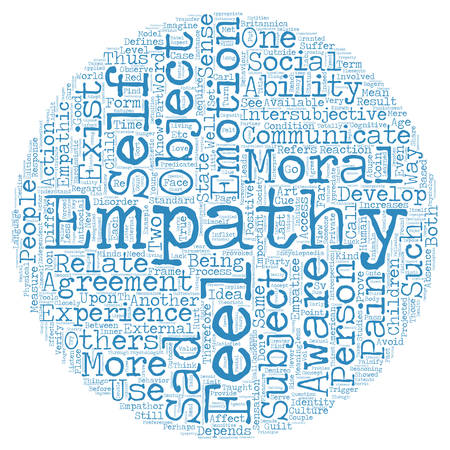to incorporate: On Empathy text background wordcloud concept