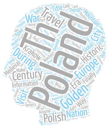 once: Once Golden Again Golden Poland text background wordcloud concept