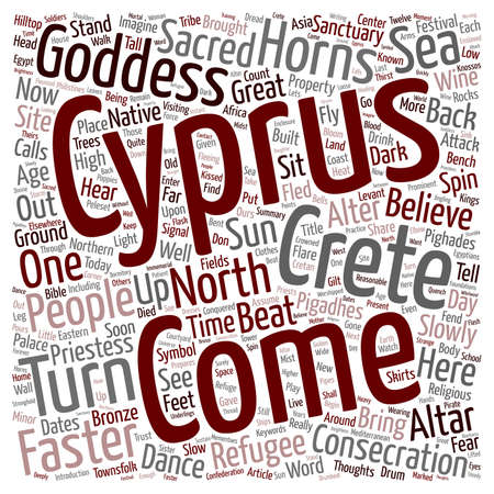 alter: North Cyprus Alter at Pighades text background wordcloud concept