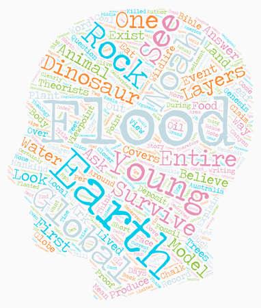 Noah s Flood text background wordcloud concept Illustration