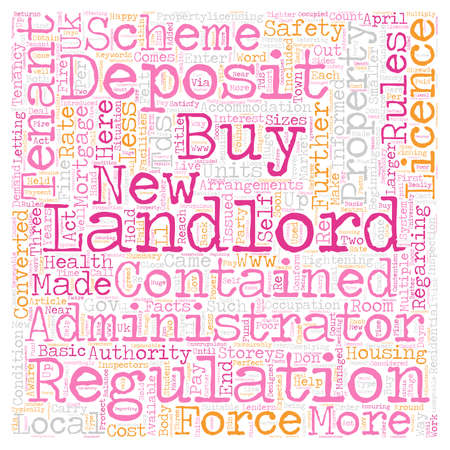 letting: New Rules For Buy To Let Landlords text background wordcloud concept Illustration