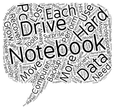 recovery: Notebook Hard Drive Recovery text background wordcloud concept