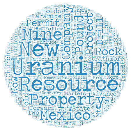 uranium: New Mexico Who Are The Serious Players text background wordcloud concept