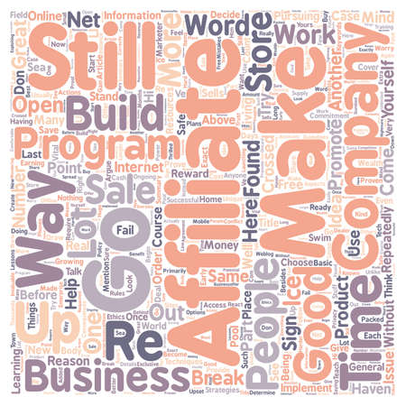 Not An Affiliate Why Ever Not text background wordcloud concept 向量圖像