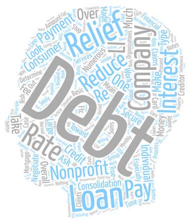 nonprofit: Nonprofit Debt Relief Companies text background wordcloud concept Illustration