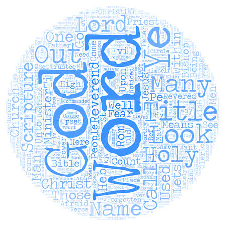 Of Lords and Bishops text background wordcloud concept