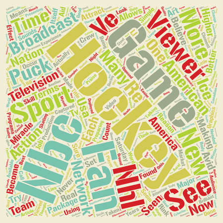 Must See Hockey text background wordcloud concept Ilustrace