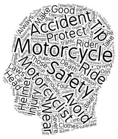 motoring: Motorcycle Safety Tips They re Lifesavers text background wordcloud concept