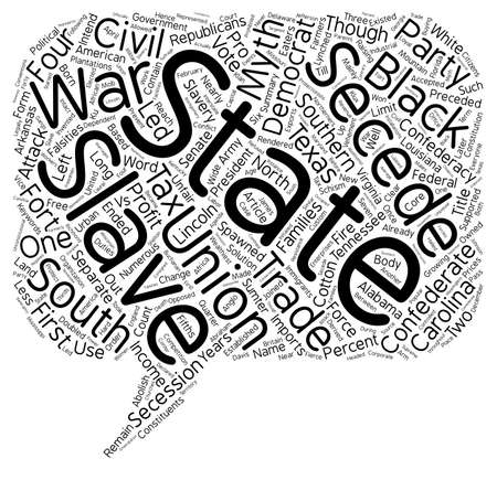 numerous: Myths of the American Civil War text background wordcloud concept