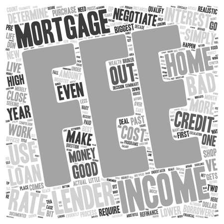 Need A Mortgage Negotiate text background wordcloud concept