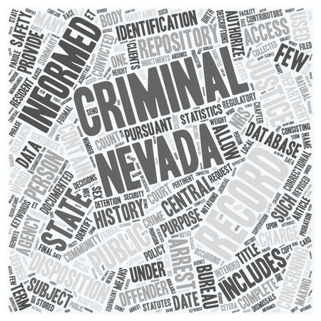 allow: Nevada Criminal Records For Resident Research text background wordcloud concept
