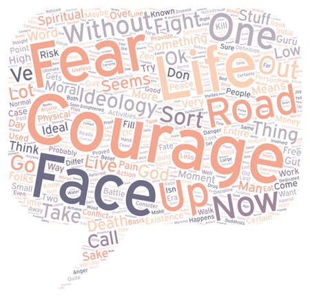 moral: Moral Courage text background wordcloud concept Illustration