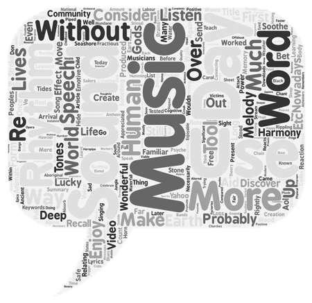 enjoyable: Music An Enjoyable Necessity text background wordcloud concept Illustration