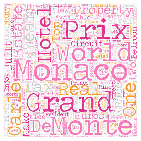 28: Monaco Grand Prix May 28 text background wordcloud concept