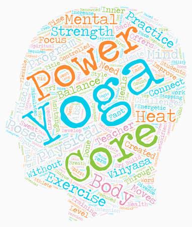 stroom nodig Probeer Core Power Yoga tekst achtergrond wordcloud begrip