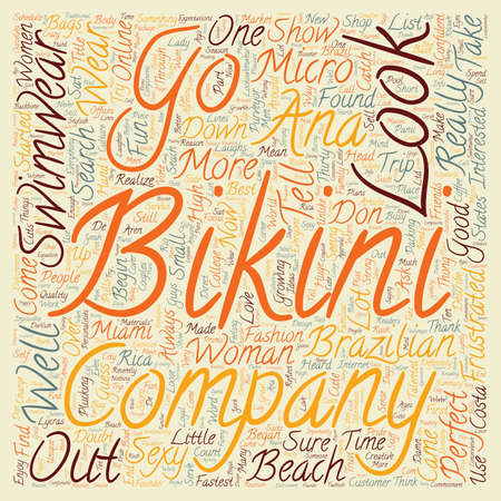 My seach for the perfect bikini text background wordcloud concept