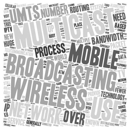 multicast: Multicast Wireless text background wordcloud concept