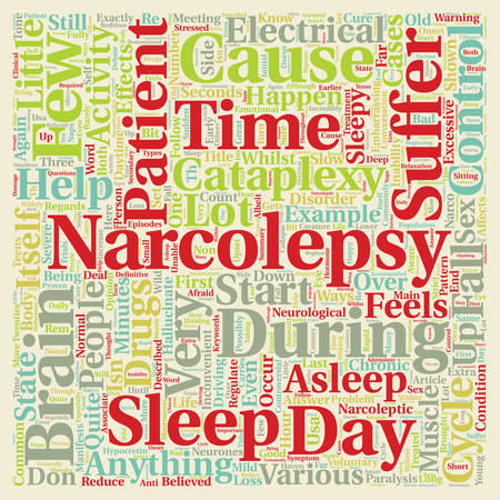 inability: Narcolepsy What Is It And How Can It Be Treated text background wordcloud concept Illustration