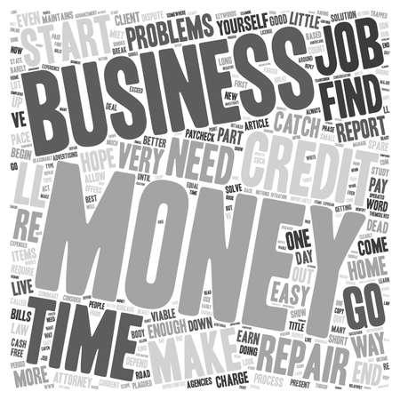 viable: Money Problems Consider A Viable Home Business text background wordcloud concept