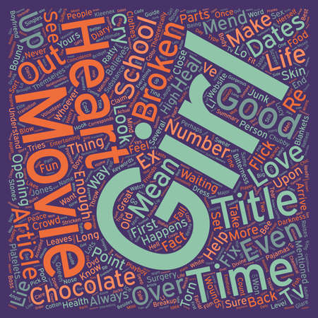 mend: Movies That Mend A Broken Heart text background wordcloud concept