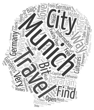 will: Munchen Liebt Dich And You Will Love It Too Travel To Munich text background wordcloud concept