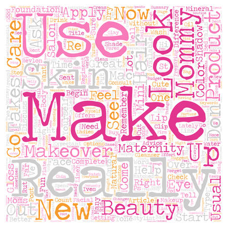 Mommy Make Over text background wordcloud concept
