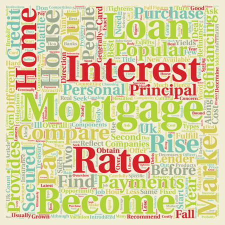 refinancing: Mortgages In The UK text background wordcloud concept
