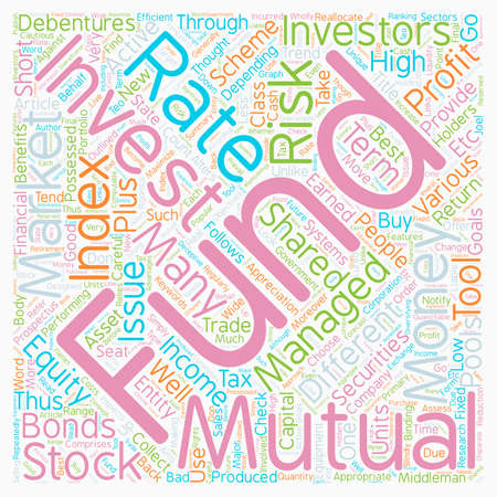 Mutual Funds How To Invest And Profit From Them text background wordcloud concept Ilustracja