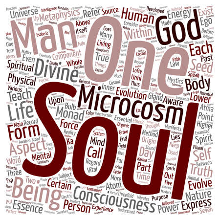 metaphysical: Mystery of the Soul Part 3 text background wordcloud concept Illustration