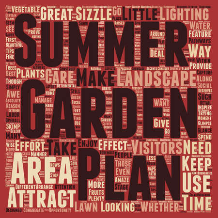 sizzle: Make Your Summer Garden Sizzle text background wordcloud concept