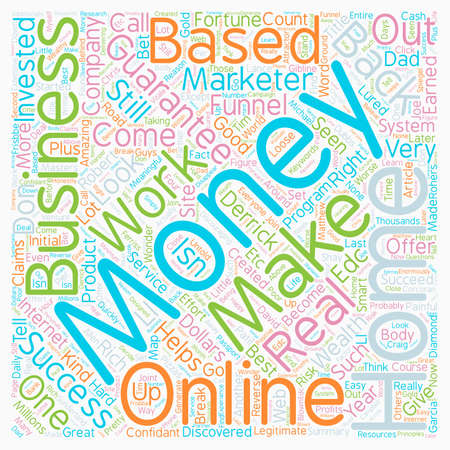 based: Make Money From Home In A Home Based Business That GUARANTEES Success text background wordcloud concept