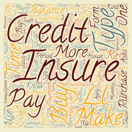 make summary: Learn What Credit Insurance Can Do For You text background wordcloud concept Illustration