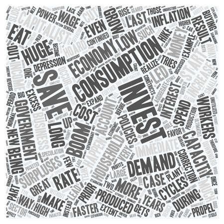 cycles: Fallas del mercado y la evolución de la parte 2 el texto Concepto de fondo wordcloud Vectores