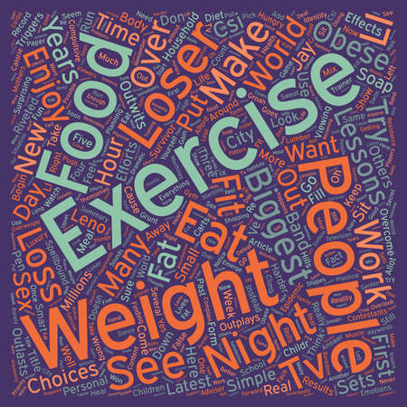 lessons: Lessons From The Biggest Loser text background wordcloud concept Illustration