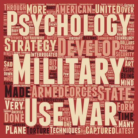 billions: Military Psychology The Latest Developments text background wordcloud concept Illustration
